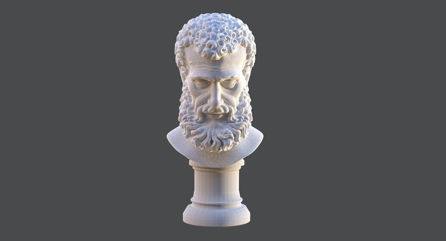 Saint Peter Head Bust royalty-free 3d model - Preview no. 11