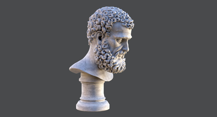 Saint Peter Head Bust royalty-free 3d model - Preview no. 5