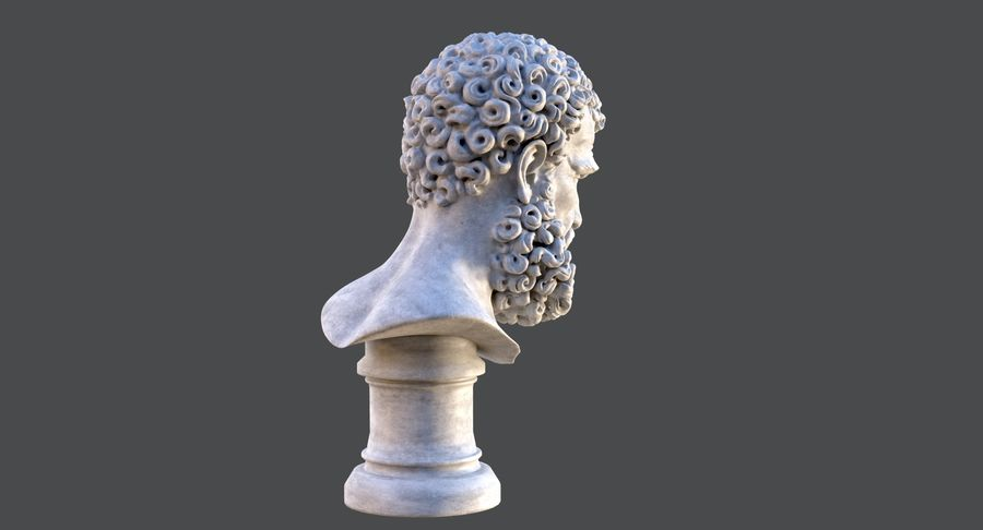 Saint Peter Head Bust royalty-free 3d model - Preview no. 6