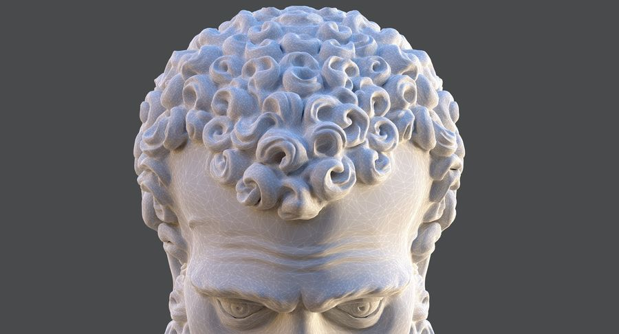 Saint Peter Head Bust royalty-free 3d model - Preview no. 12