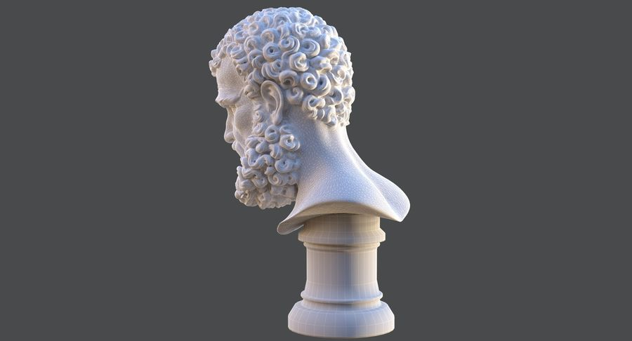 Saint Peter Head Bust royalty-free 3d model - Preview no. 16