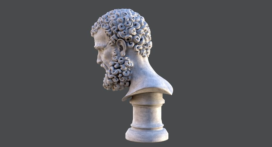 Saint Peter Head Bust royalty-free 3d model - Preview no. 9