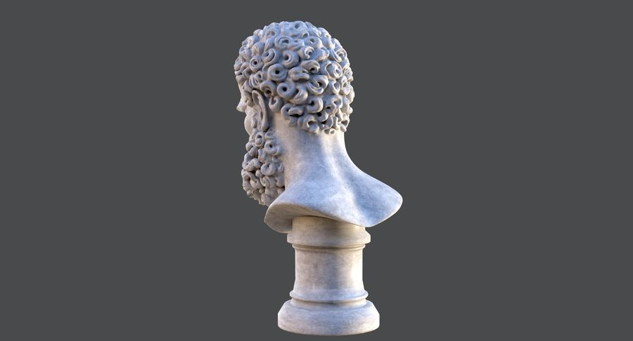 Saint Peter Head Bust royalty-free 3d model - Preview no. 8