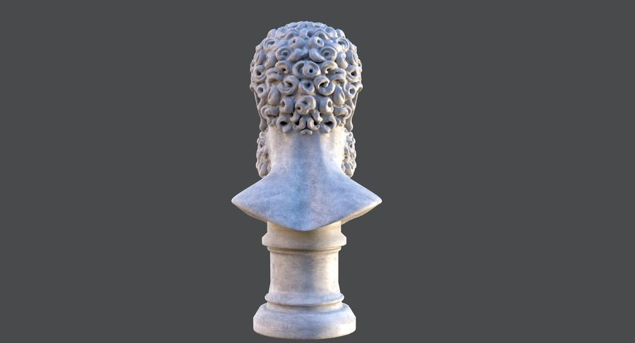 Saint Peter Head Bust royalty-free 3d model - Preview no. 7
