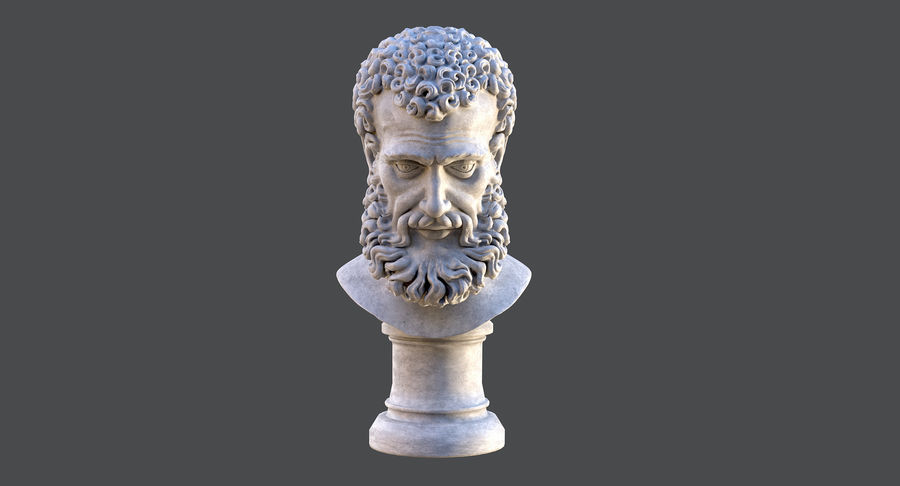 Saint Peter Head Bust royalty-free 3d model - Preview no. 3