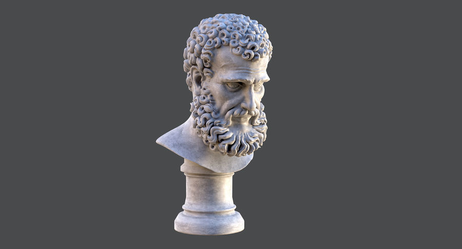 Saint Peter Head Bust royalty-free 3d model - Preview no. 4