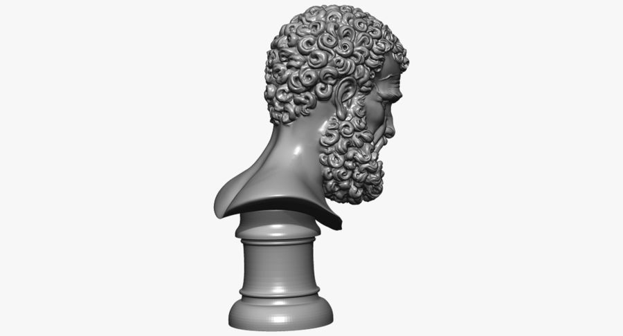 Saint Peter Head Bust royalty-free 3d model - Preview no. 19