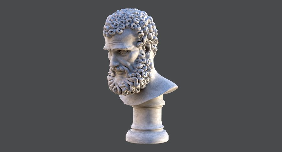 Saint Peter Head Bust royalty-free 3d model - Preview no. 10