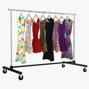 Dress Clothing Rack 3d model