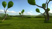 Fantastica scena di alberi - Modelli 3d model