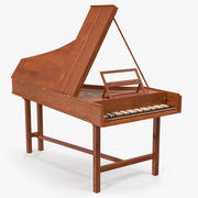 Harpsichord Musical Instrument 3D Model 3d model