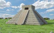 Chichen Itza, El Castillo, Meksyk 3d model