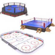 Sport Fields Collection 3d model