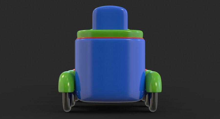 玩具火车 royalty-free 3d model - Preview no. 8