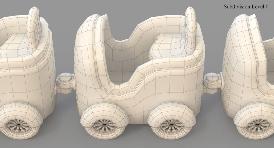 玩具火车 royalty-free 3d model - Preview no. 39