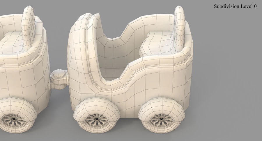 玩具火车 royalty-free 3d model - Preview no. 45