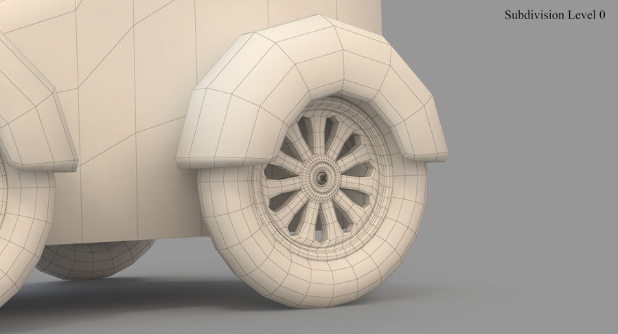 玩具火车 royalty-free 3d model - Preview no. 47