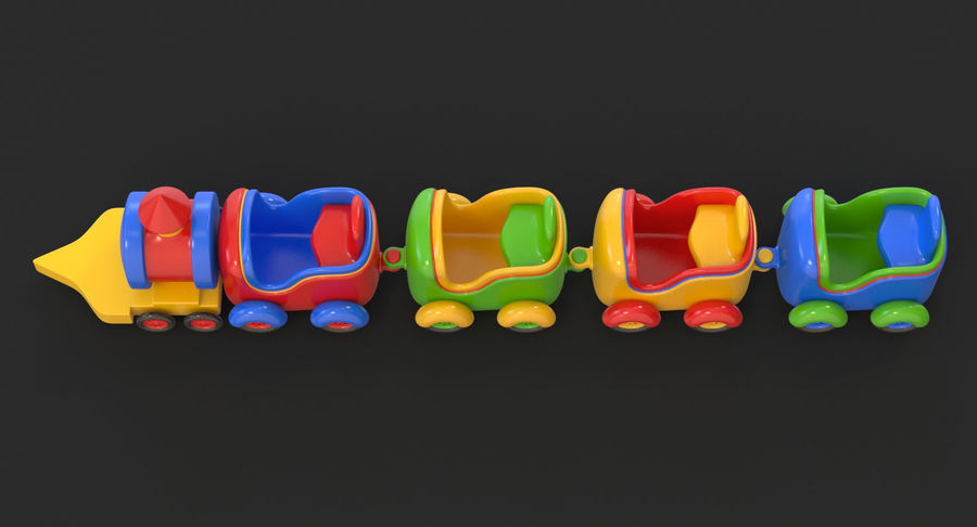 玩具火车 royalty-free 3d model - Preview no. 20
