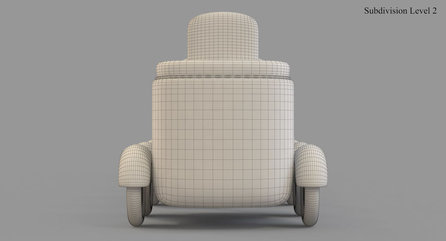 玩具火车 royalty-free 3d model - Preview no. 32