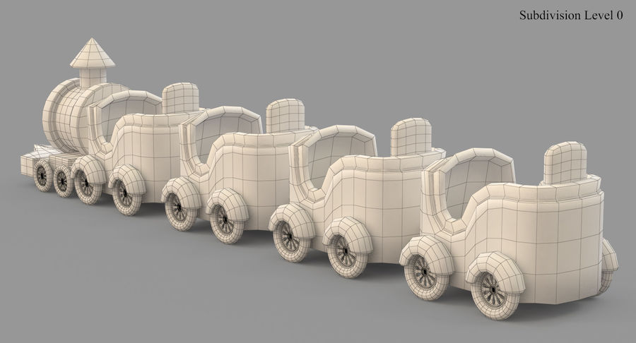 玩具火车 royalty-free 3d model - Preview no. 29