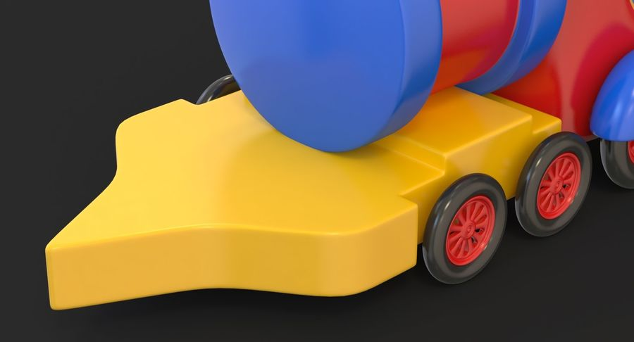 玩具火车 royalty-free 3d model - Preview no. 11