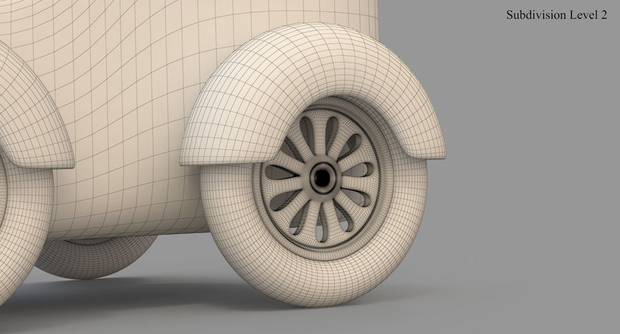 玩具火车 royalty-free 3d model - Preview no. 48