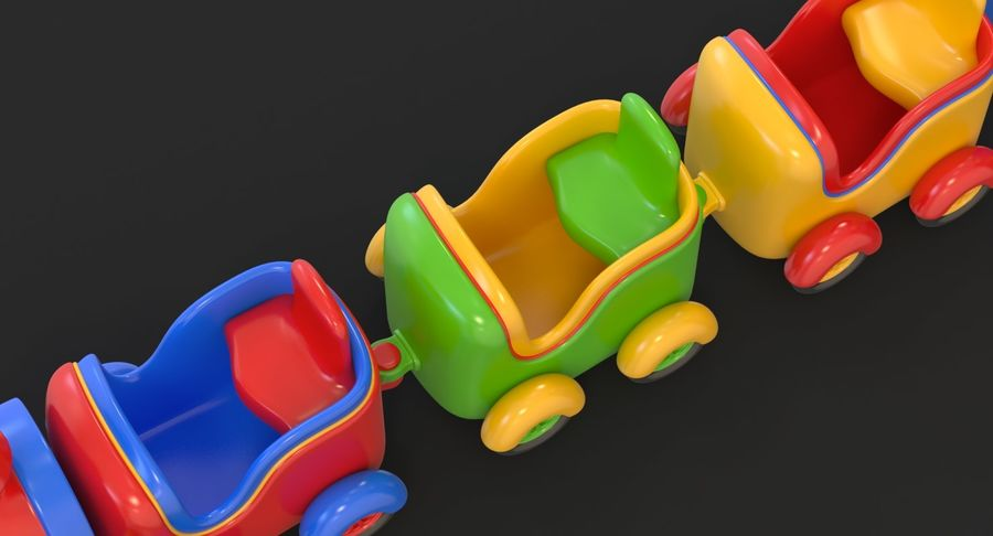 玩具火车 royalty-free 3d model - Preview no. 22