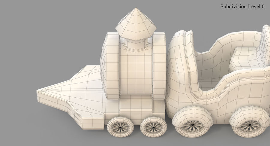玩具火车 royalty-free 3d model - Preview no. 37