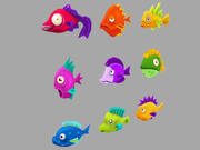 Collection de poissons océaniques Lowpoly 3d model