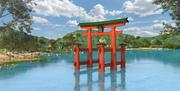 Храм Ицукусима, Тории. Япония 3d model