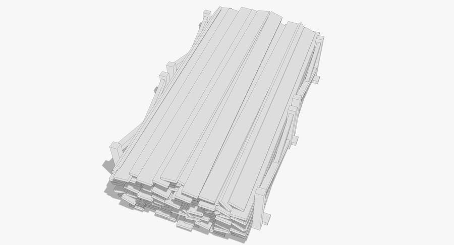 Kolekcja drewnianych bali, listew i belek royalty-free 3d model - Preview no. 16
