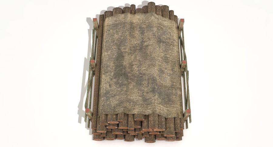 Kolekcja drewnianych bali, listew i belek royalty-free 3d model - Preview no. 5