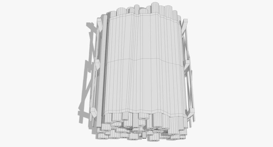 Kolekcja drewnianych bali, listew i belek royalty-free 3d model - Preview no. 9