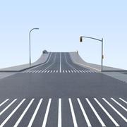 低聚模块化城市街道包 3d model