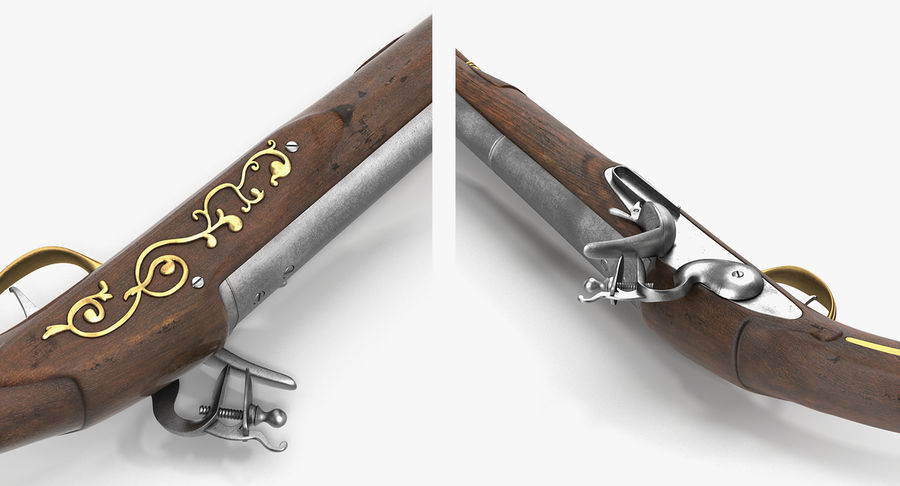 Pirate Weapons 3D模型收藏 royalty-free 3d model - Preview no. 16