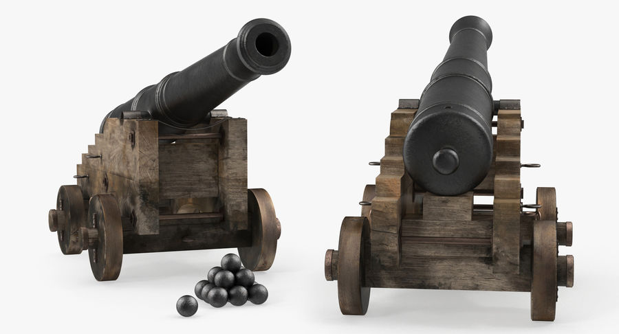 Pirate Weapons 3D Models Collection royalty-free 3d model - Preview no. 5