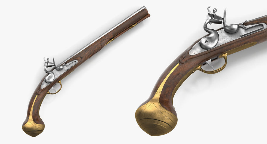 Pirate Weapons 3D模型收藏 royalty-free 3d model - Preview no. 15