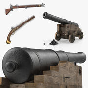 Pirate Weapons 3D 모델 컬렉션 3d model