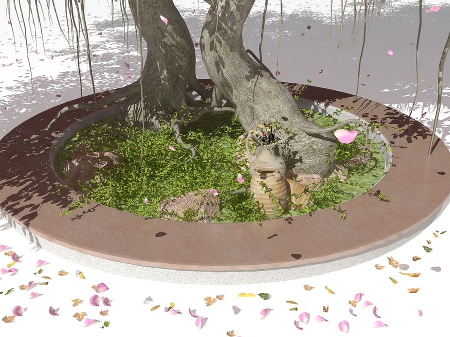 Cherry Blossom Tree royalty-free 3d model - Preview no. 4