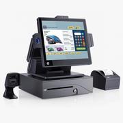Système de vente au détail HP RP7 3d model
