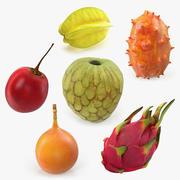 Collezione di modelli 3D di frutti esotici 3d model