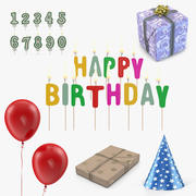 Alles Gute zum Geburtstag 3D Models Collection 3d model