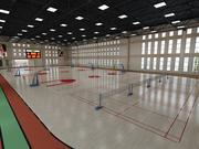 室内篮球场 3d model
