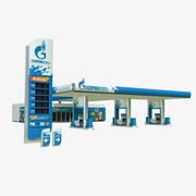 Gazprom petrol station 3d model