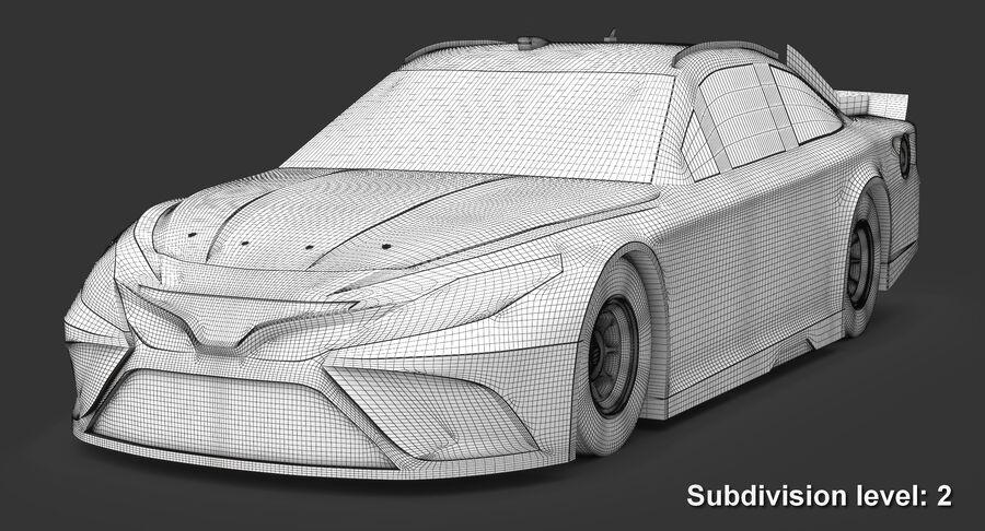 토요타 캠리 NASCAR 시즌 2018 royalty-free 3d model - Preview no. 13