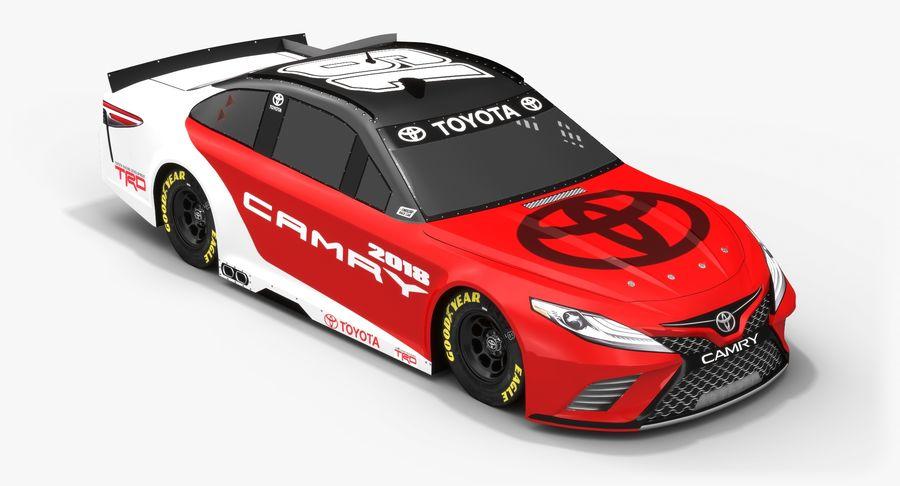 토요타 캠리 NASCAR 시즌 2018 royalty-free 3d model - Preview no. 5