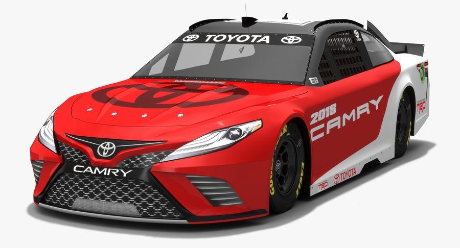 토요타 캠리 NASCAR 시즌 2018 royalty-free 3d model - Preview no. 2
