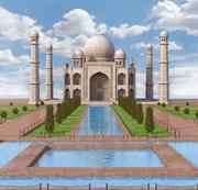Taj Mahal, Índia. 3d model