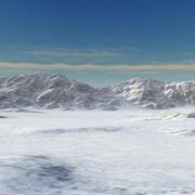 Snow Mountain Range Valley 3d model