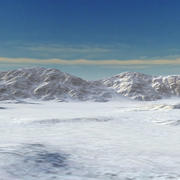 Snow Mountain Range Valley 3d model